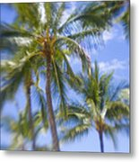 Blurry Palms Metal Print