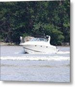 Boat On The Hudson Metal Print