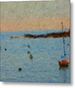 Boats At Smugglers Cove Boothbay Harbor Maine Metal Print