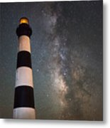 Bodie Island Lighthouse Milky Way Metal Print