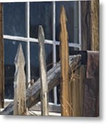 Bodie Picket Fence And Window Metal Print