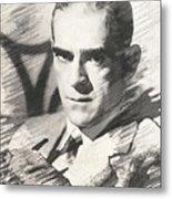 Boris Karloff, Vintage Actor Metal Print