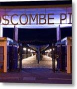 Boscombe Pier At Night Metal Print