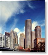 Boston Skyline 1980s Metal Print