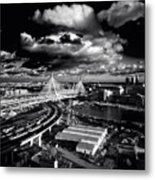 Boston's Big Dig Metal Print