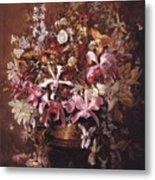 Bouquet Of Orchids Metal Print