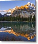 Bow Lake And Crowfoot Mountain Metal Print