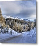 Bow Valley Parkway Winter Conditions Metal Print