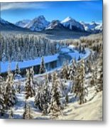Bow Valley Winter View Metal Print