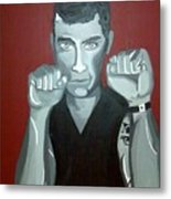 Boxer Sees Red Metal Print