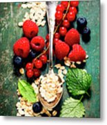 Breakfast With Oats And Berries Metal Print