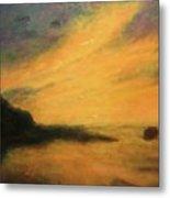 Breakwater Sunset Metal Print