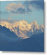 Breathtaking Scenic View Of The Alps In Italy  Metal Print