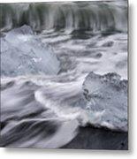 Brethamerkursandur Iceberg Beach Iceland 2588 Metal Print