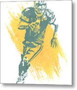 Brett Favre Green Bay Packers Water Color Art 1 Metal Print