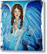 Brianna Little Angel Of Strength And Courage Metal Print