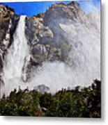 Bridalveil Fall Yosemite Valley Metal Print