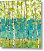 Bright Birches Metal Print