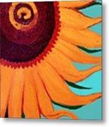 Bright Happy Sunflower Metal Print