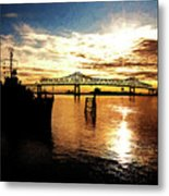 Bright Time On The River Metal Print by Scott Pellegrin