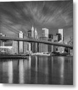Brooklyn Bridge From Dumbo Metal Print