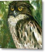Brown Fish Owl  Metal Print