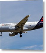 Brussels Airlines Airbus A319 Metal Print