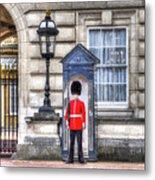 Buckingham Palace Queens Guard Art Metal Print