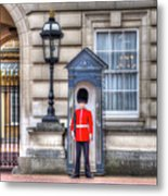 Buckingham Palace Queens Guard Metal Print