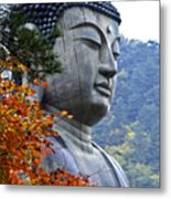 Buddha In Autumn Metal Print