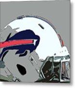 Buffalo Bills Football Team Ball And Typography Metal Print