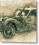 Bugatti Type 57 - Atlantic 3 - 1934 - Automotive Art - Car Posters Metal Print