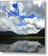 Bull Lake Reflection Metal Print