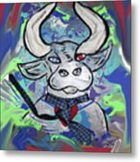 Bullish - A Bull With A Heart - Untie Me Metal Print