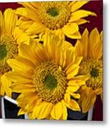 Bunch Of Sunflowers Metal Print