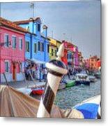 Burano Venice Italy Metal Print