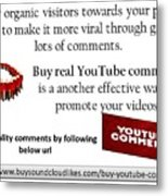 Buy Youtube Comments Metal Print