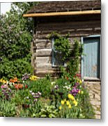 Cabin In The Spring Metal Print
