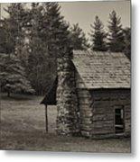 Cabin On The Blue Ridge Parkway - 15 Metal Print