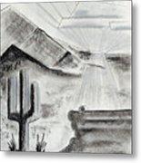 Cacti Sunset Metal Print