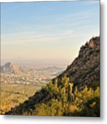 Cactus Mountain Metal Print