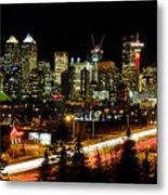 Calgary Skyline Metal Print