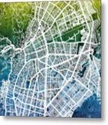 Cali Colombia City Map Metal Print