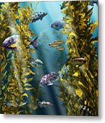 California Kelp Forest Metal Print
