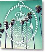 California Palms I Metal Print