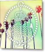 California Palms IIi Metal Print