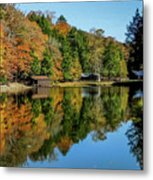 Camp Blanton Autumns Reflection Metal Print