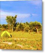 Camp Ground Near Kasane In Botswana Metal Print