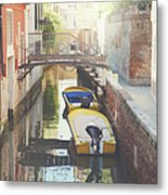 Canals Of Venice With Instagram Vintage Style Filter Metal Print