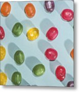 Candy Scattered Metal Print